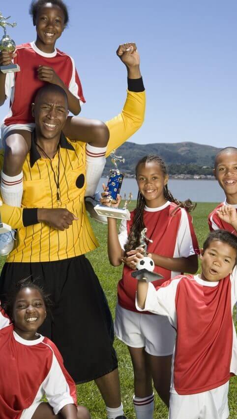 organize sports teams - soccer referee