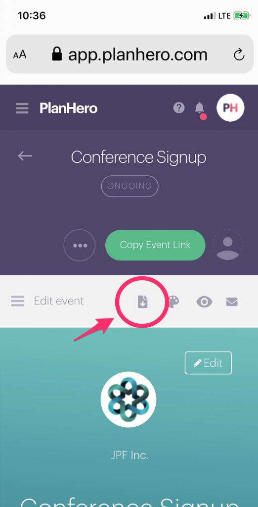 PlanHero Download Signup Report Mobile