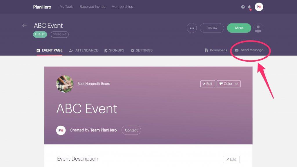 Club Tool Message Feature Desktop