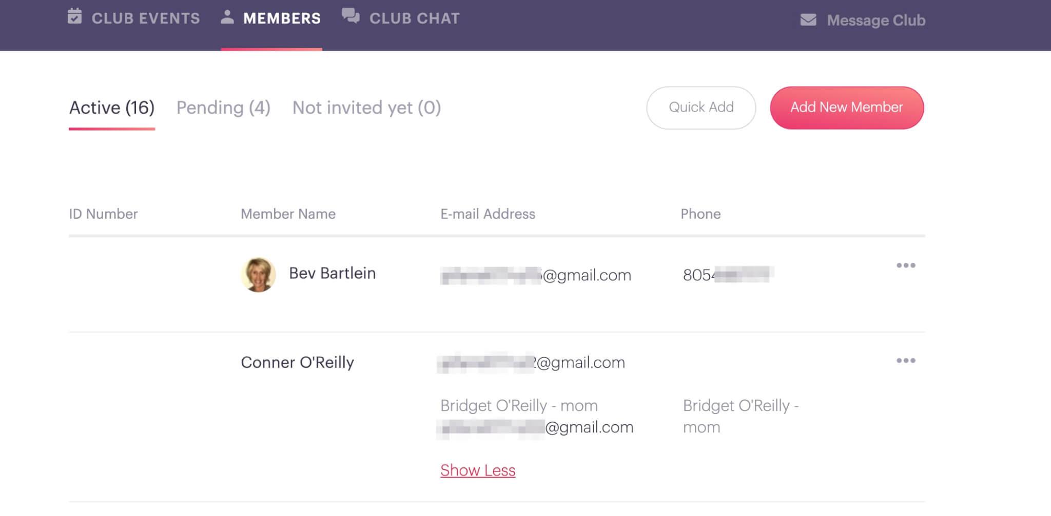 Roster Example Make 4-H Volunteering Easier PlanHero Club Tool