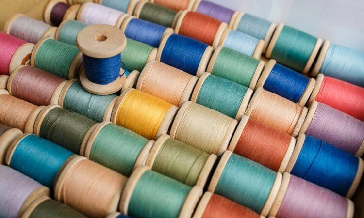 spools of thread for how to make a diy face mask