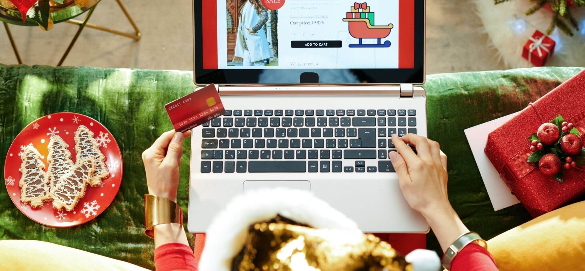 christmas shopping online with laptop for 2020 unique holiday gift guide