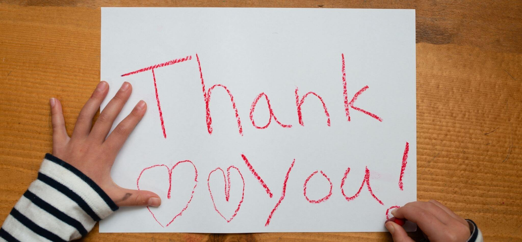 how to thank donors and volunteers