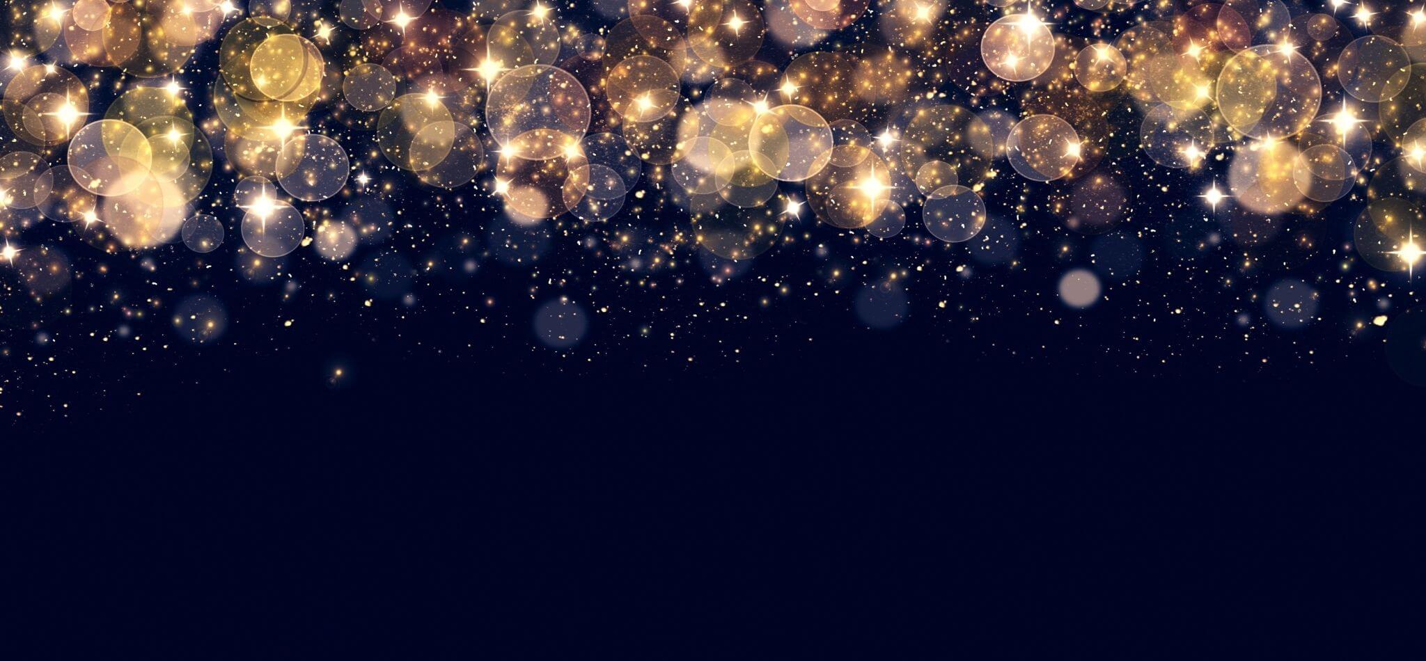 creative grad night ideas black background with golden lights