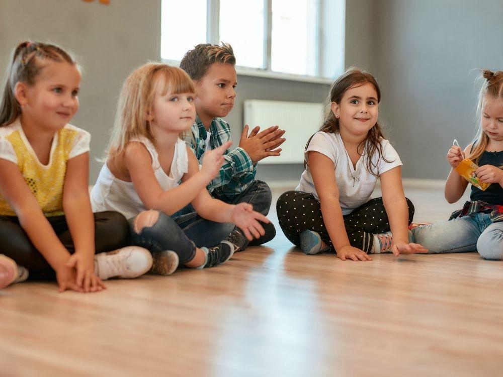 church children on floor